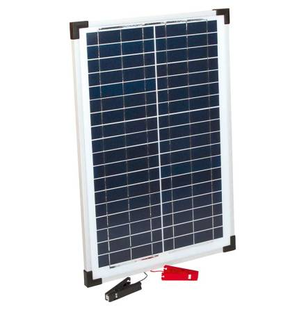 Solpanel 25 Watt 12 Volt med batteriklämmor